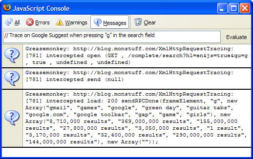 """XMLHttpRequest Tracing"""" for AJAX debugging · Curiosity is bliss"""